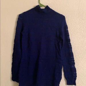 Cobalt blue loose neck sweater